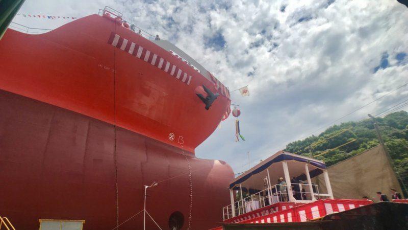 【進水式】臼杵造船所に入れる日