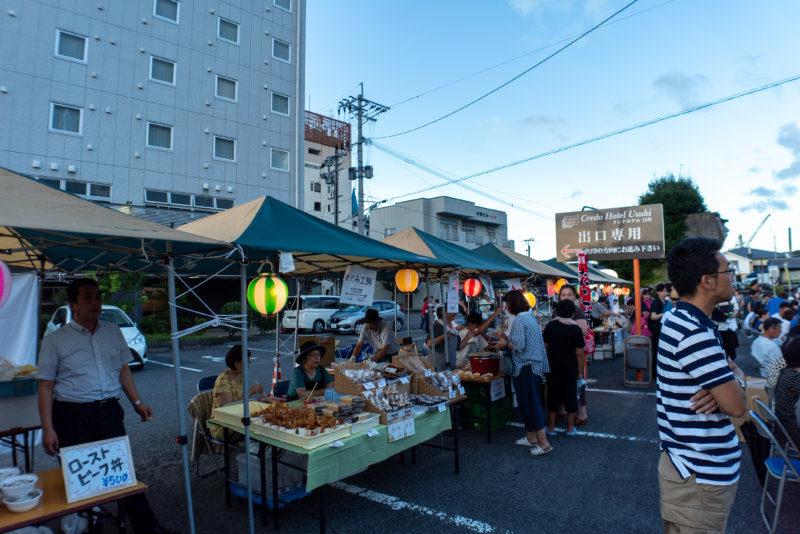 臼杵の町からの出店もおおく、美味しいお酒や食事も楽しめた!