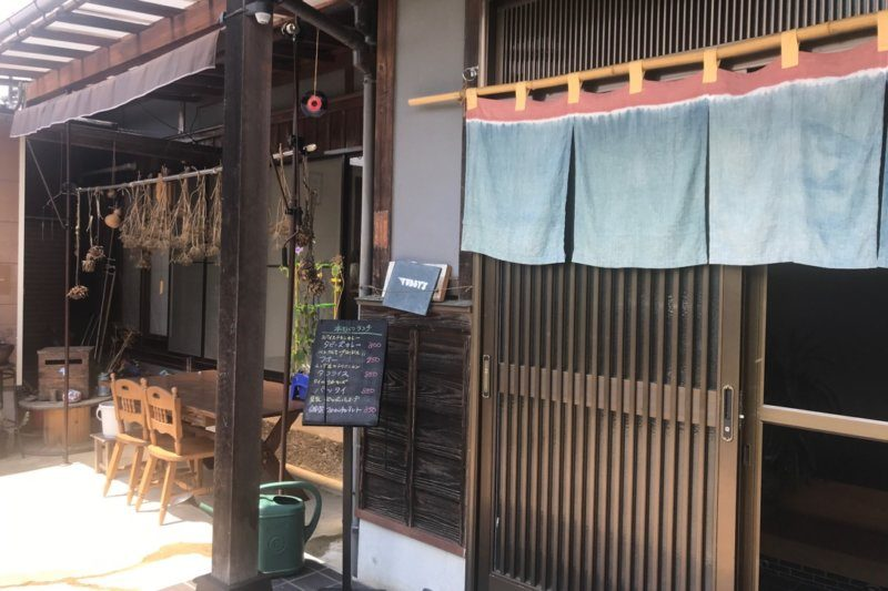 TUBBY'S CAFE(たびーずかふぇ)の入り口