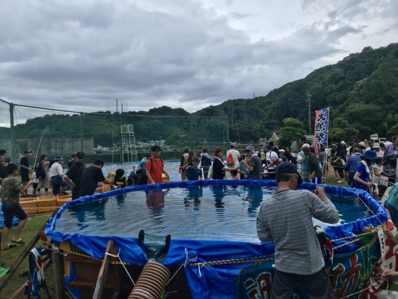 今年初開催、釣り堀体験